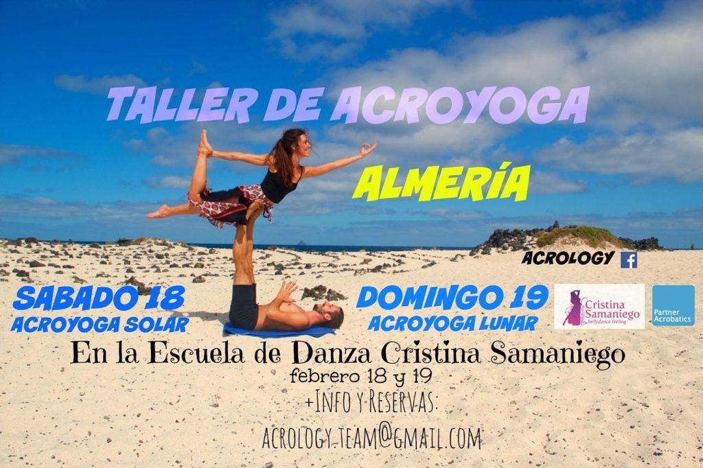Taller de acroyoga solar y lunar el 18-19 de Febrero en Almeria