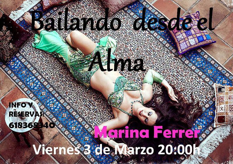 Taller de bailando desde alma con Marina Ferrer 3 de Marzo