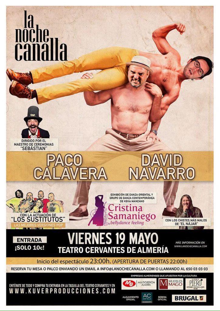 Actuación en la Noche Canalla en el Teatro Cervantes. 19 de Mayo 2017.