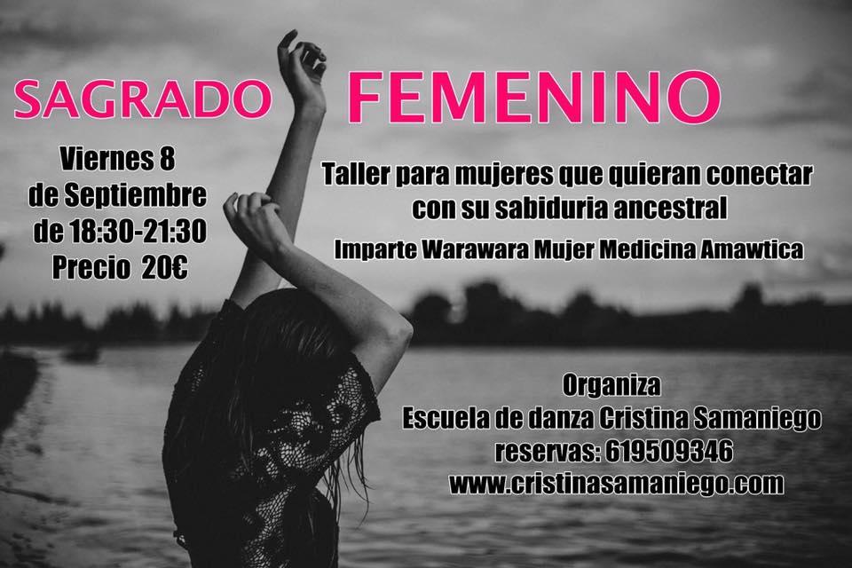 Taller de Sagrado Femenino con Warawara. Viernes 8 de Septiembre.