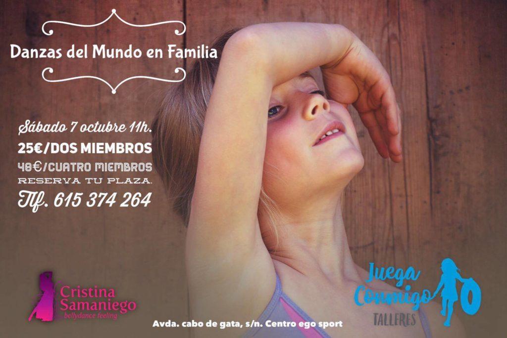 Taller de danzas del mundo en Familia. Sábado 7 de Octubre.