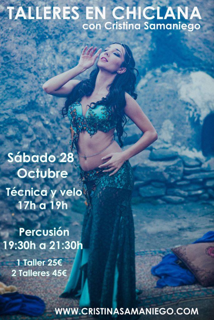 Talleres de Danza Oriental en Chiclana el 28 de Octubre.