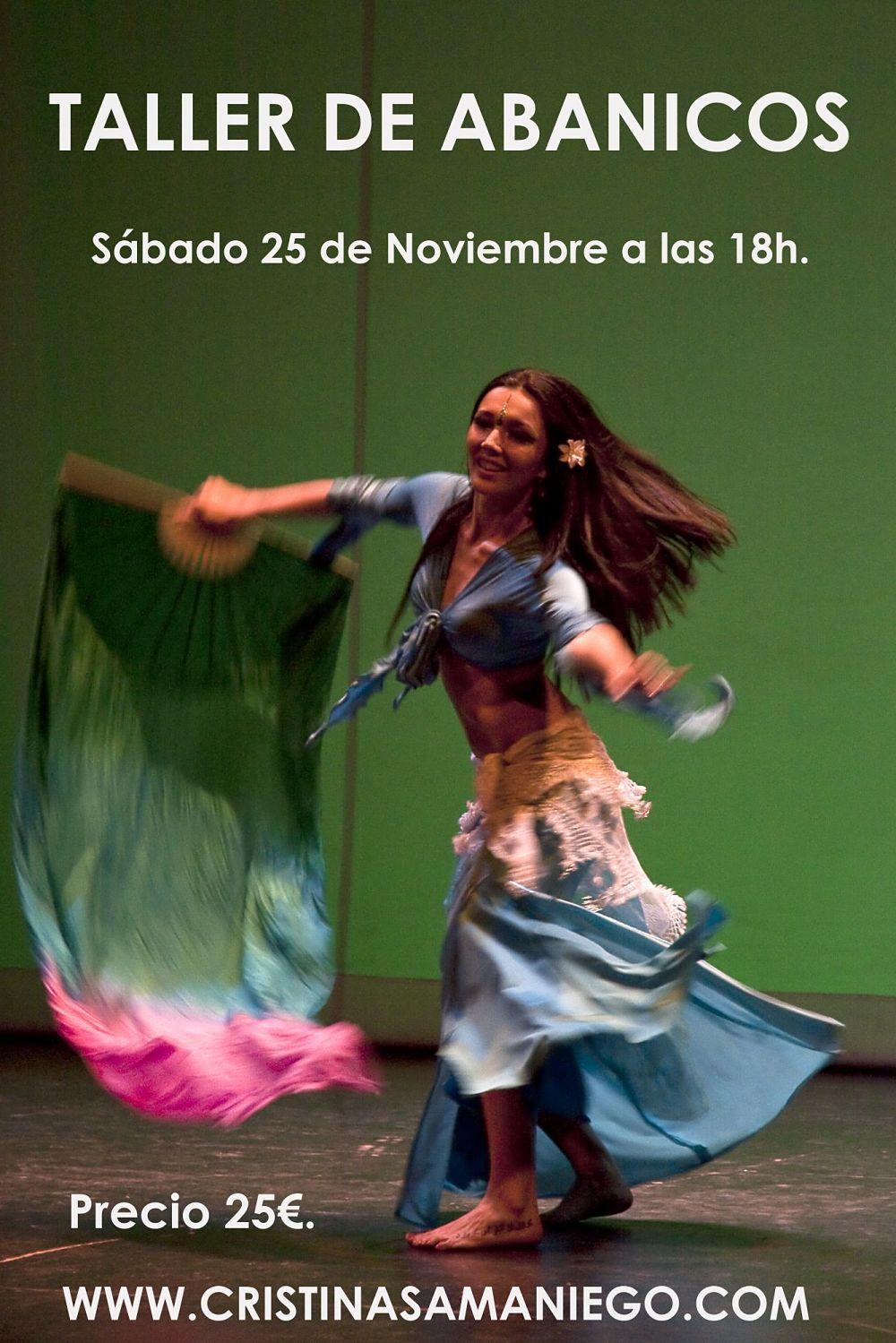 Taller de abanicos de seda el 25 de Noviembre a las 18h