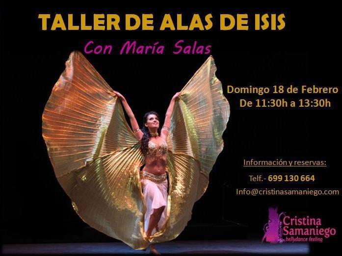 Taller de alas de isis con Maria Salas el 18 de Febrero