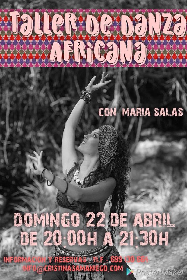 Taller de danza africana con Maria Salas el Domingo 22 de Abril