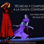 Taller de técnicas y composición a la danza contemporanea con Keka Manzano. 28 de Abril.