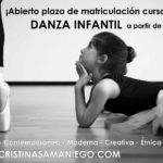 Abierto el plazo de matriculación para danza infantil curso 2018:2019.