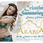 Actuación de Danza Oriental con Cristina Samaniego en el Restaurante Arabia, Aguadulce. 16 de Junio.