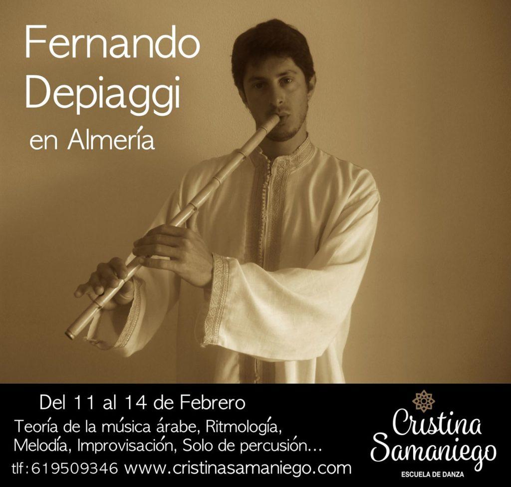 Clase de Música árabe con Fernando Depiaggi en Almeria