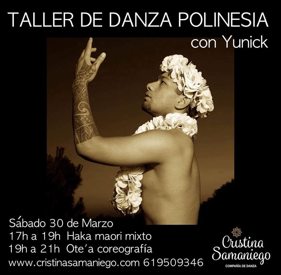 Taller de danza polinesia con Yunick desde Madrid