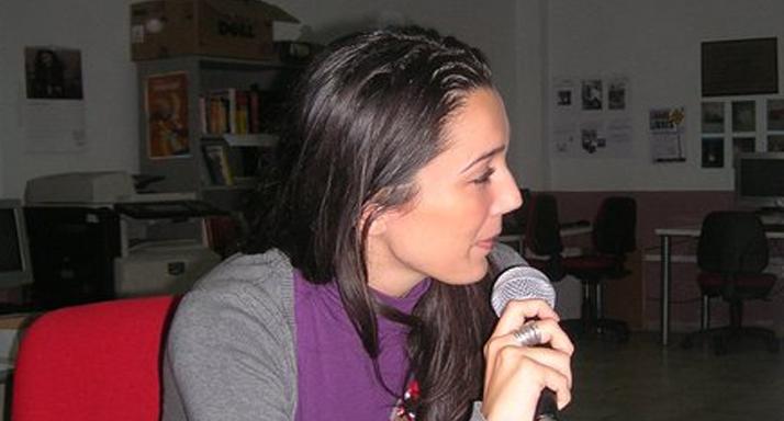 Charla en taller de radio con jóvenes marroquies.