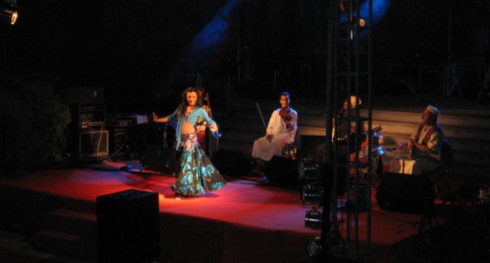 Cristina Samaniego con la Orquesta Umaya en Portugal