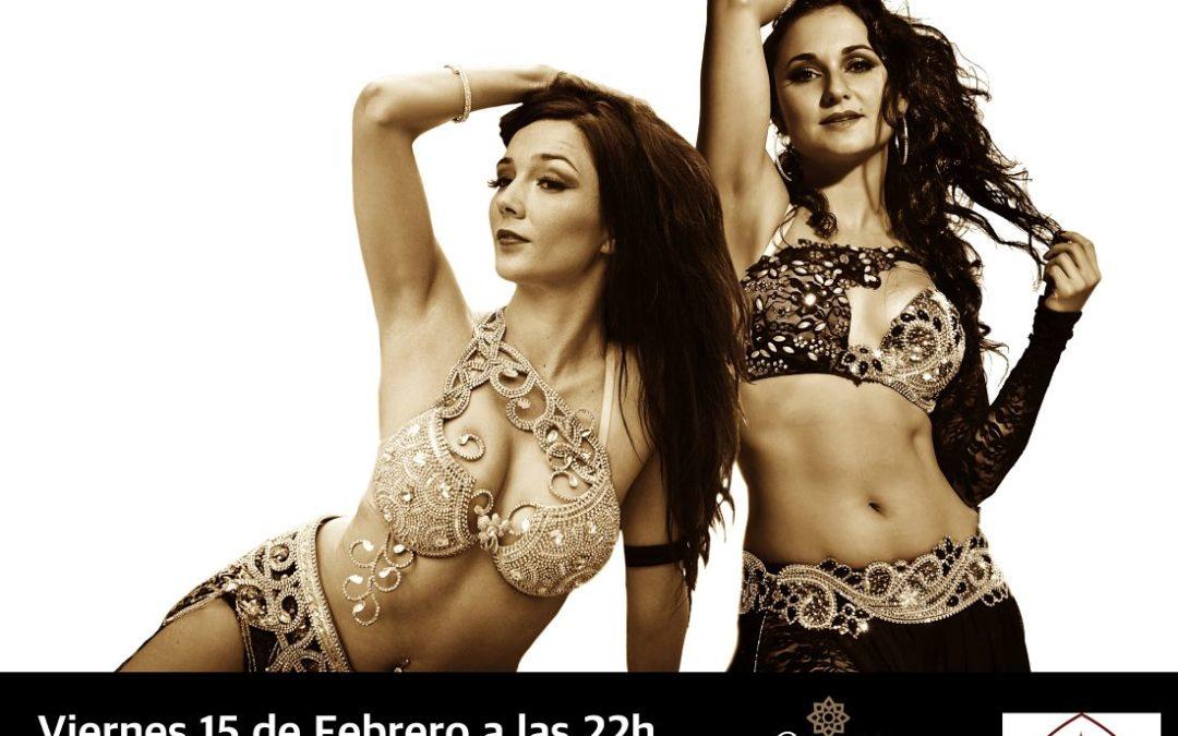 Nur Zahira y Cristina Samaniego en un espectáculo de Danza Oriental