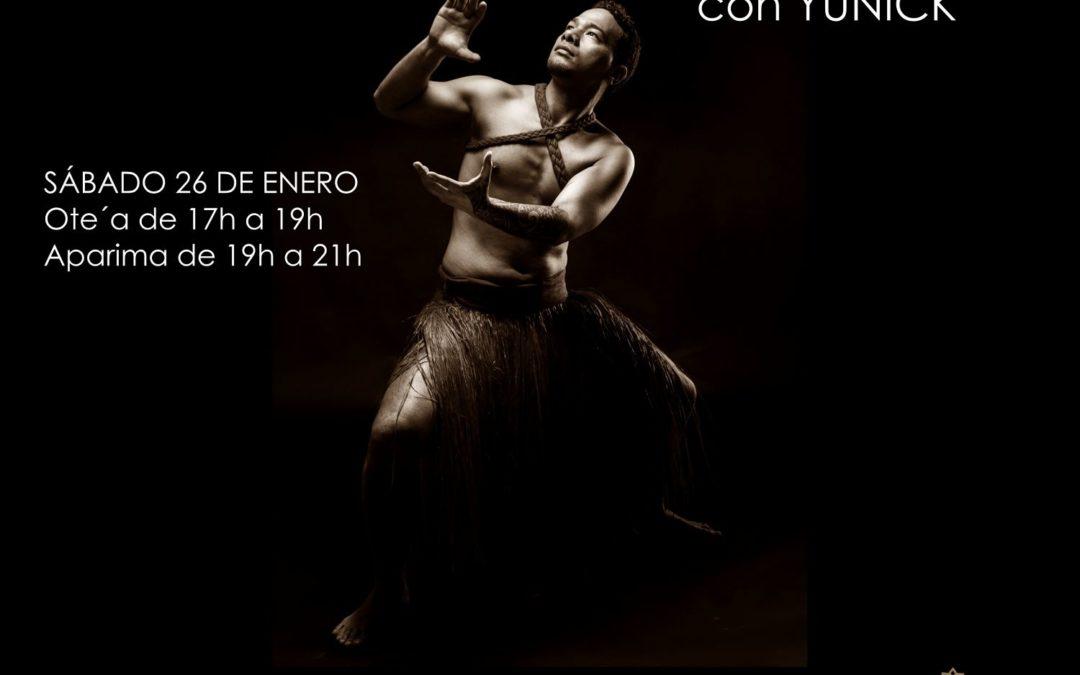 Taller y espectáculo de danza tahitiana con Yunick desde Madrid. 26 de Enero.