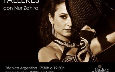 Talleres y espectáculo con Nur Zahira desde Argentina en Almería. 15 y 16 de Febrero.