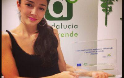 Xilacurve y Cristina Samaniego, en los Premios Andalucía Emprende