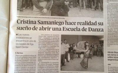 Cristina Samaniego hace realidad su sueño de abrir una Escuela de Danza